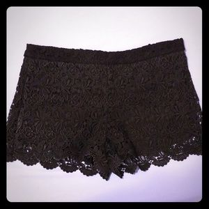 Embroidered black shorts!